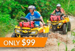 family activities playa del carmen atv zipline